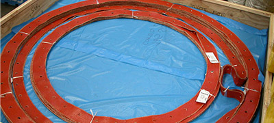 Fiberglass Woven Cloth Gaskets Silicone Coated